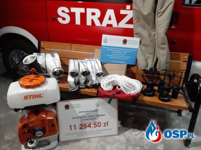 """Zakupy w ramach programu """"Mały Strażak – 2020"""" OSP Ochotnicza Straż Pożarna"""