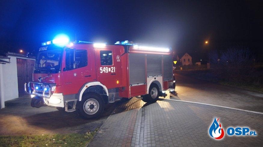 Biały Bór Pożar Busa OSP Ochotnicza Straż Pożarna