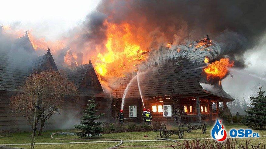 Pożar Gazdówki OSP Ochotnicza Straż Pożarna