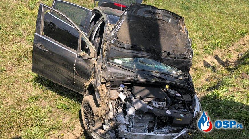 Wypadek Autostrada A4 - 443km OSP Ochotnicza Straż Pożarna