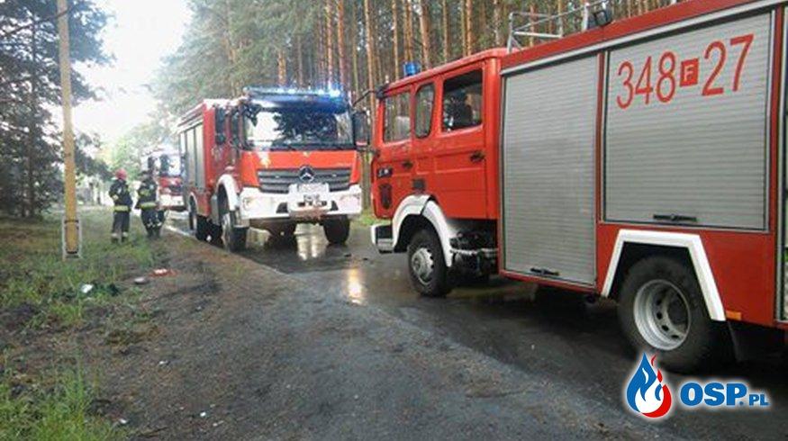 Pożar auta osobowego OSP Ochotnicza Straż Pożarna