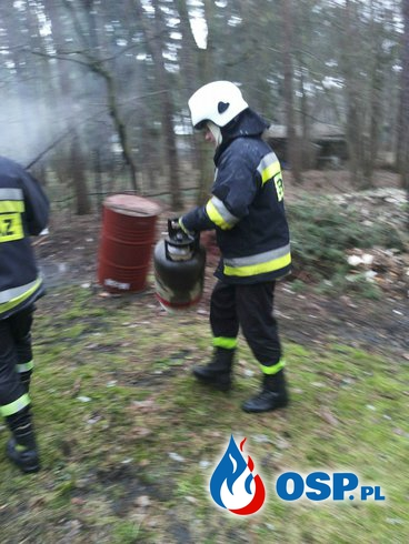 Pożar komórki drewnianej w Sokolnikach OSP Ochotnicza Straż Pożarna