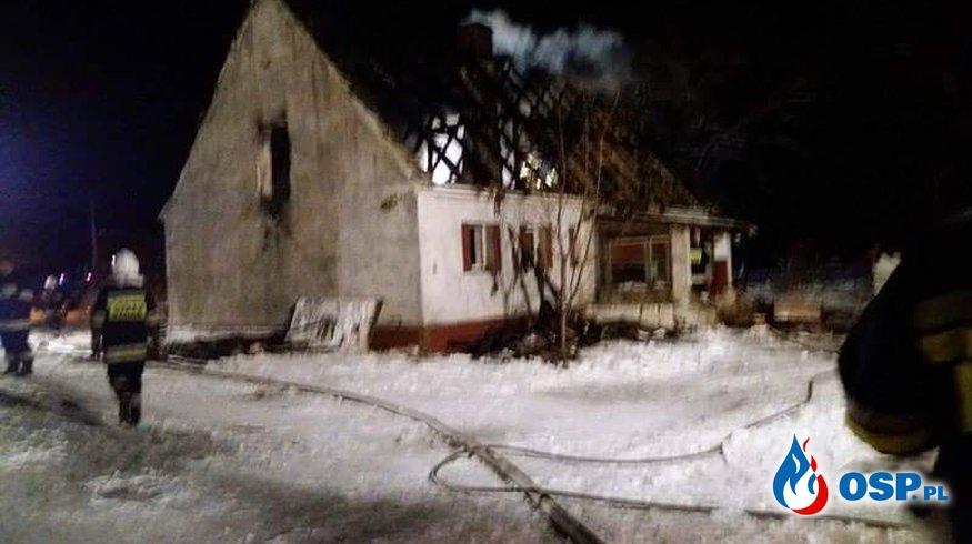 23.01- Pożar domu w Ołoboku OSP Ochotnicza Straż Pożarna
