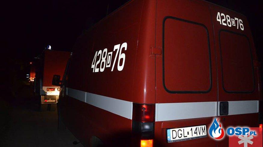 Pożar magazynu w Starych Serbach OSP Ochotnicza Straż Pożarna