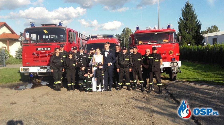 Ślub strażaka z OSP Bledzew OSP Ochotnicza Straż Pożarna