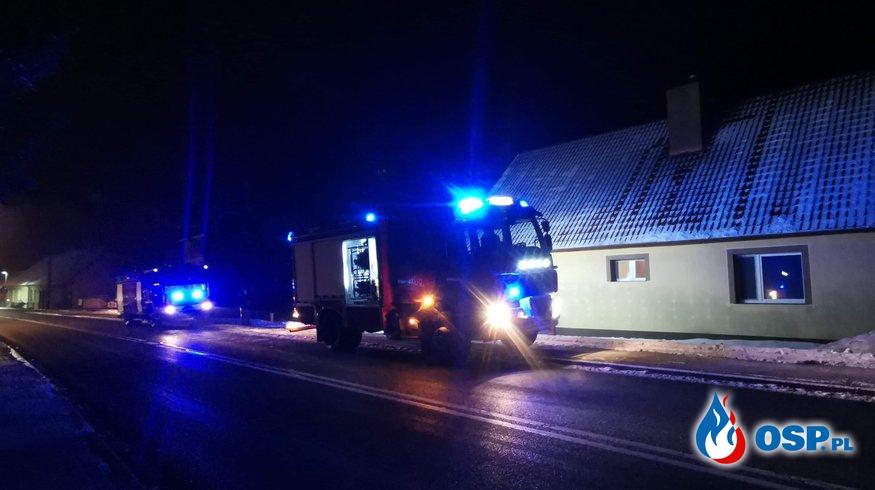 Pożar przewodu kominowego m. Cierznie OSP Ochotnicza Straż Pożarna