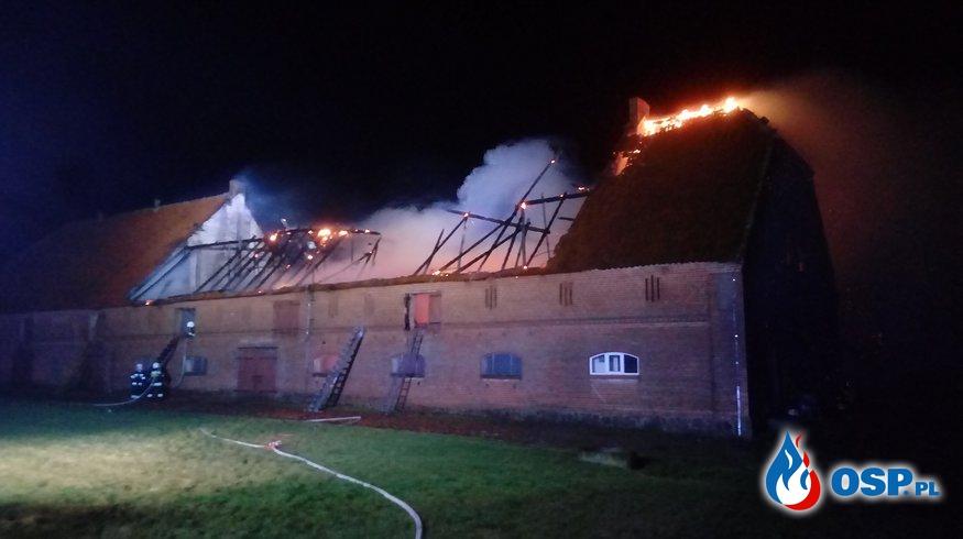 Pożar budynku gospodarczego Wracławek 2019 OSP Ochotnicza Straż Pożarna
