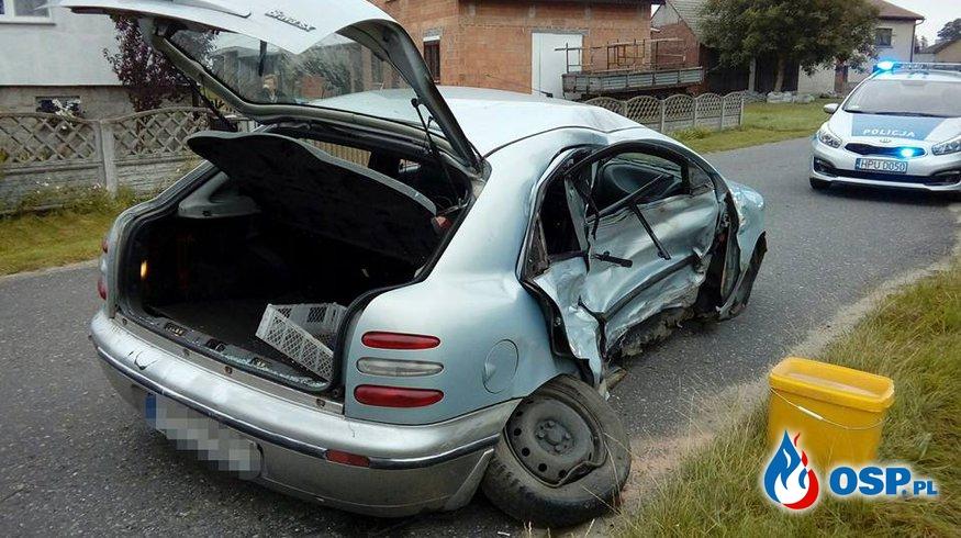 Wypadek drogowy [44/2017] OSP Ochotnicza Straż Pożarna