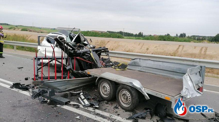 Śmiertelny wypadek na DK 61 OSP Ochotnicza Straż Pożarna