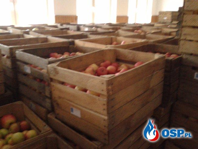 Dostawa i rozprowadzanie jabłek OSP Ochotnicza Straż Pożarna