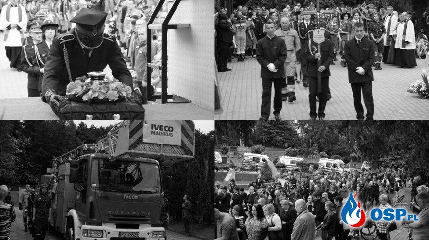 Setki osób żegnały w Zielonej Górze tragicznie zmarłego ogn. Grzegorza Wesołowskiego. OSP Ochotnicza Straż Pożarna