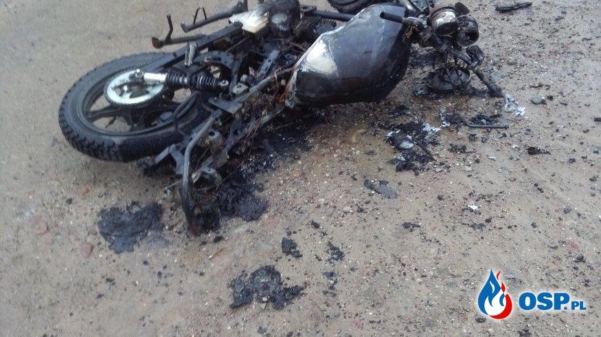 16.12.2016 Wyjazd do spalonego motocyklu w miejscowoci Babięta OSP Ochotnicza Straż Pożarna