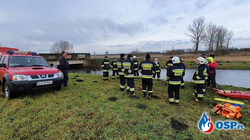 Ćwiczenia ratownictwo wodno-lodowe.Ninikowo 01.02.2020r. OSP Ochotnicza Straż Pożarna
