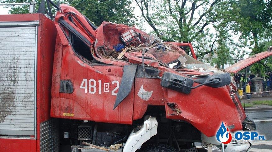 Nowe informacje po wypadku wozu bojowego w Sokółce. Wiadomo, co ze zdrowiem strażaków. OSP Ochotnicza Straż Pożarna