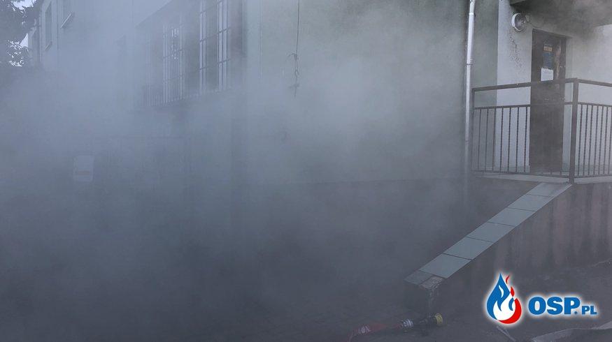 Pożar piwnicy budynku Urzędu Gminy w Nowym Mieście OSP Ochotnicza Straż Pożarna
