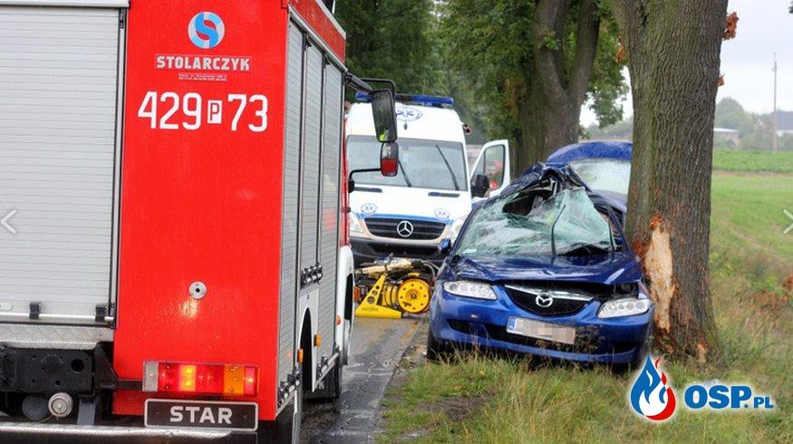 Śmiertelny wypadek w Zieleniu OSP Ochotnicza Straż Pożarna