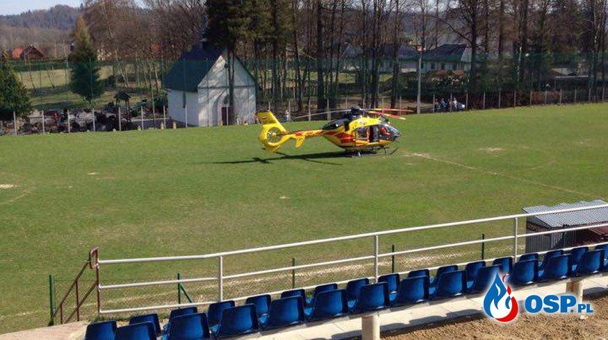 Motocyklista ranny w wypadku OSP Ochotnicza Straż Pożarna