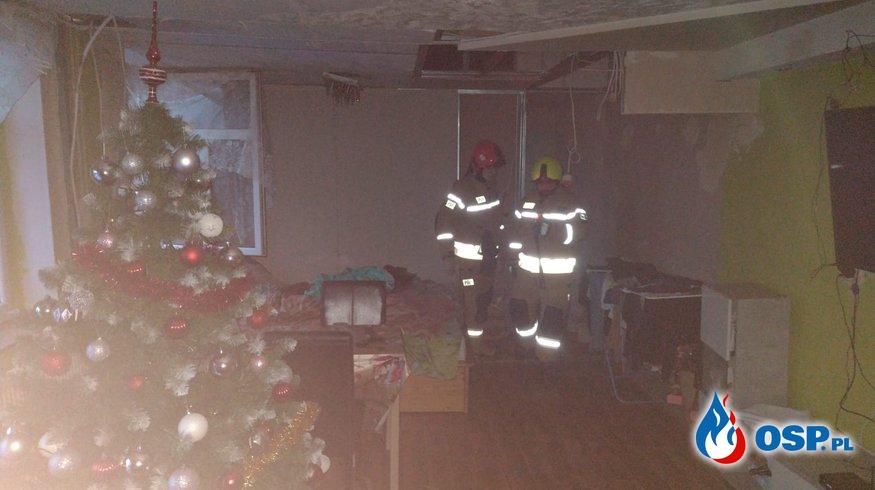 Zadymienie mieszkania na ul. Kolejowej w Grajewie OSP Ochotnicza Straż Pożarna