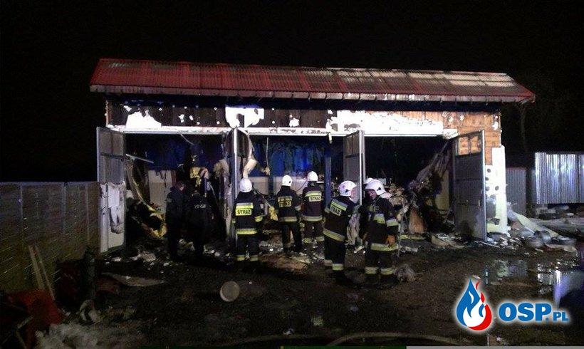 Pożar warsztatu samochodowego 05.02.2015r. OSP Ochotnicza Straż Pożarna