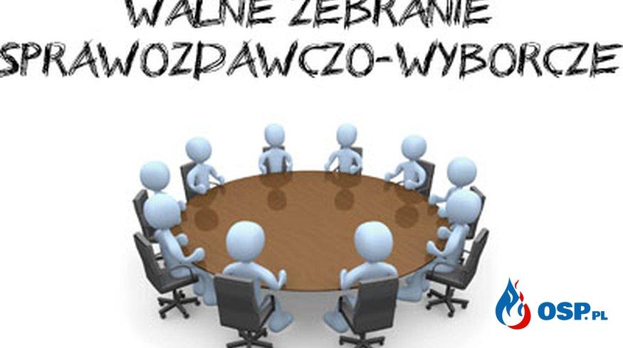 Zebranie sprawozdawczo-wyborcze. OSP Ochotnicza Straż Pożarna