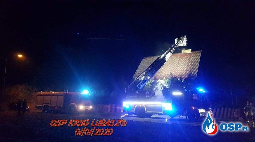 Pożar sadzy w przewodzie kominowym 2020r. OSP Ochotnicza Straż Pożarna