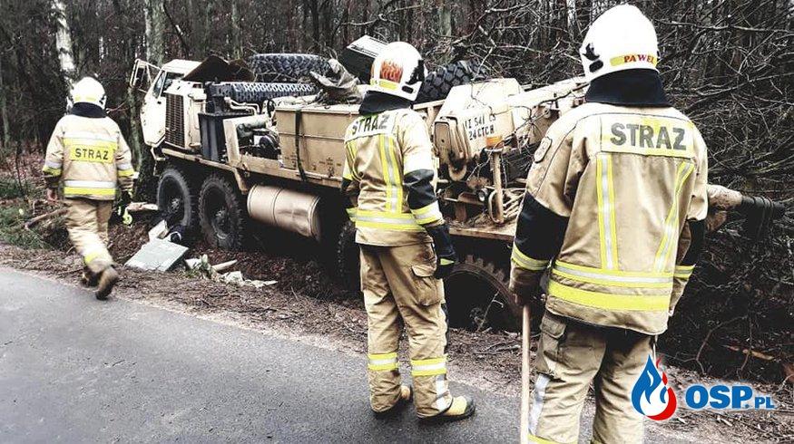 Wypadek amerykańskich żołnierzy w Polsce. Trzeci w ciągu miesiąca. OSP Ochotnicza Straż Pożarna