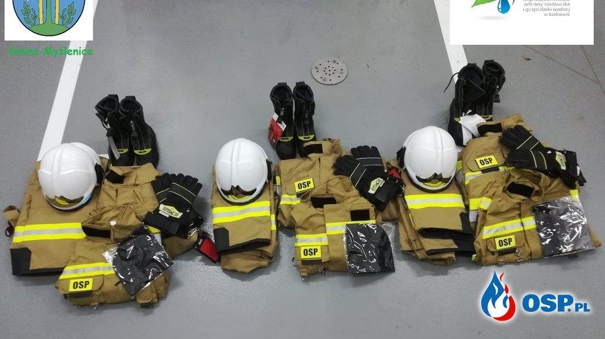 Odzież ochronna z dofinansowania WFOŚiGW oraz Gminy Myślenice OSP Ochotnicza Straż Pożarna