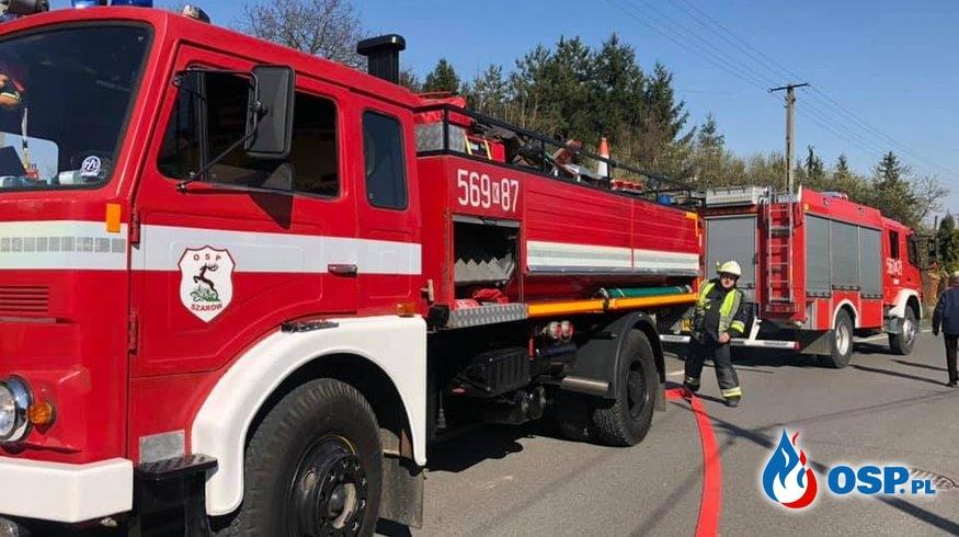 Pożar budunku gospodarczego OSP Ochotnicza Straż Pożarna