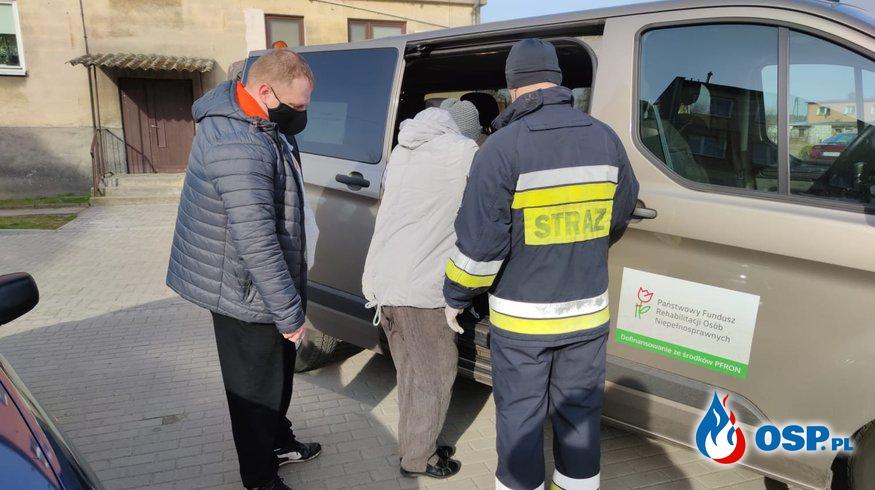 75-76/2021 Transport na szczepienia OSP Ochotnicza Straż Pożarna