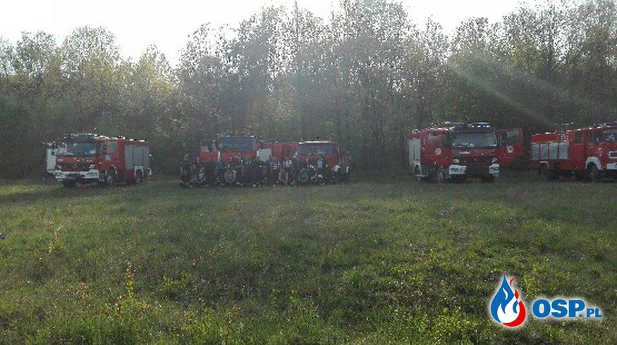 Pożar suchych traw OSP Ochotnicza Straż Pożarna
