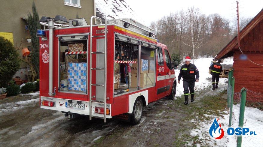 Strażacy ze Szachetną Paczką w gminie Chorkówka OSP Ochotnicza Straż Pożarna