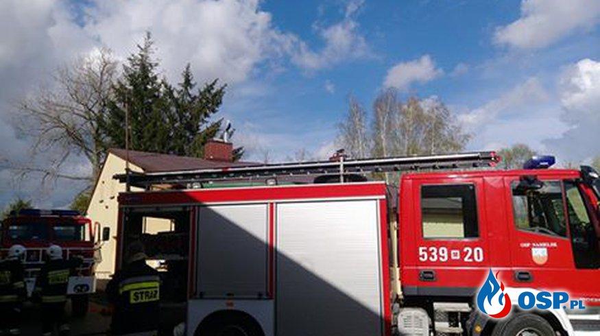 Alarm 50 OSP- pożar na poddaszu w budynku mieszkalnym OSP Ochotnicza Straż Pożarna