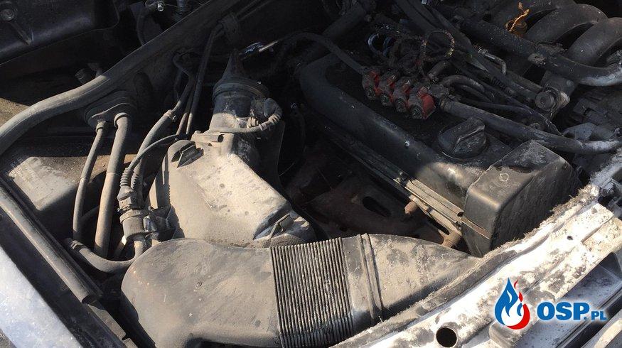 Pożar samochodu osobowego OSP Ochotnicza Straż Pożarna