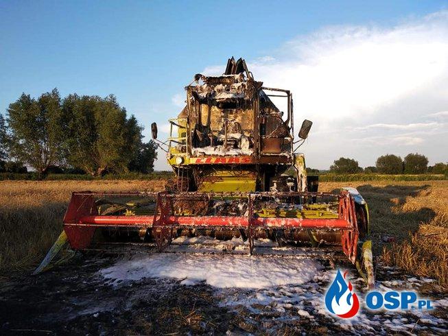 Pożar kombajnu w Dębowcu OSP Ochotnicza Straż Pożarna