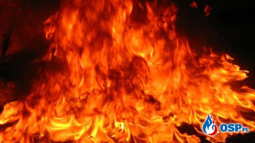 Nieszczęśliwy pożar śmietnika na cmentarzu OSP Ochotnicza Straż Pożarna