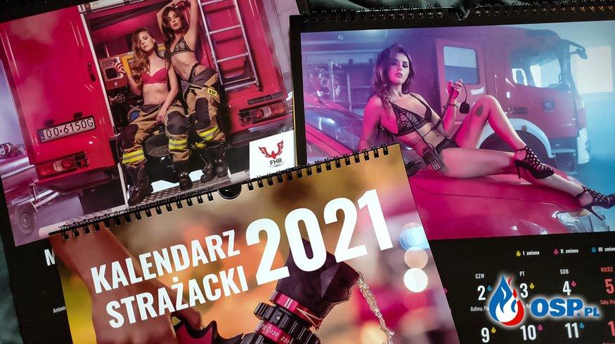 Odważne zdjęcia w wyjątkowym strażackim kalendarzu. Część zysków trafi do potrzebującego strażaka. OSP Ochotnicza Straż Pożarna
