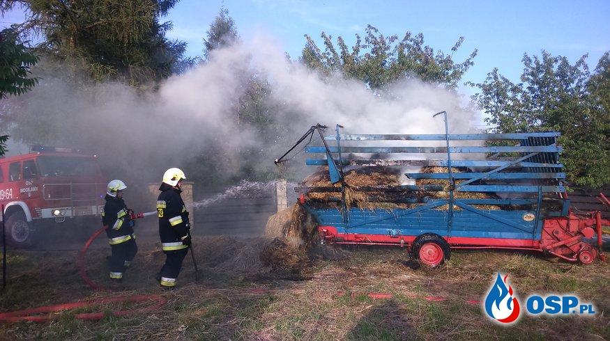 Pożar siana OSP Ochotnicza Straż Pożarna