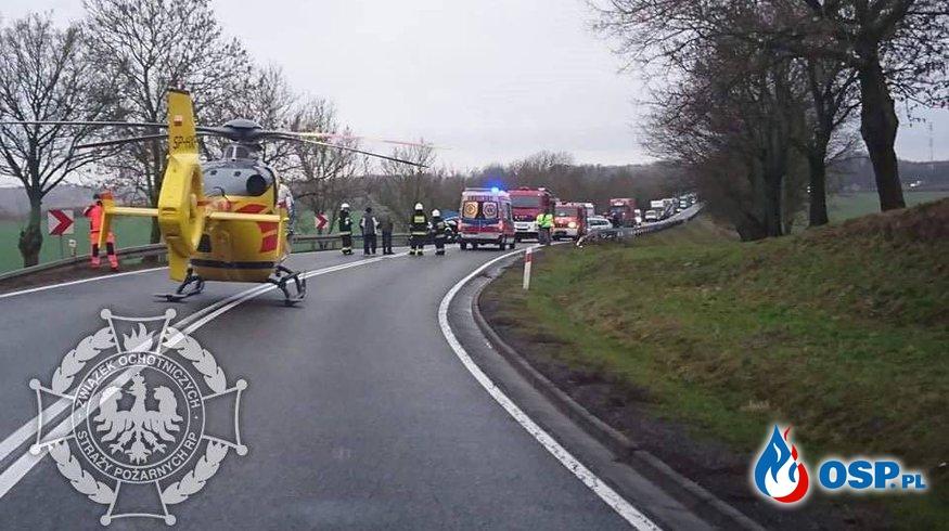 5 osób rannych po wypadku na DK 10 w okolicach Słutowa OSP Ochotnicza Straż Pożarna