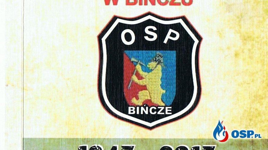 70-lecie OSP Bińcze Jubileusz zbliża sie dużymi krokami  OSP Ochotnicza Straż Pożarna