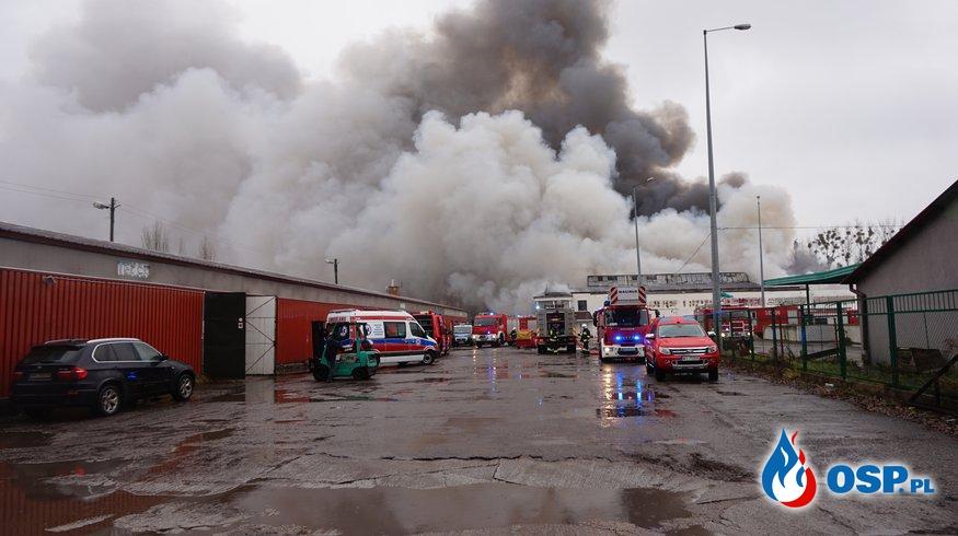 Pożar hali magazynowej przy ulicy Wrocławskiej w Radomiu OSP Ochotnicza Straż Pożarna
