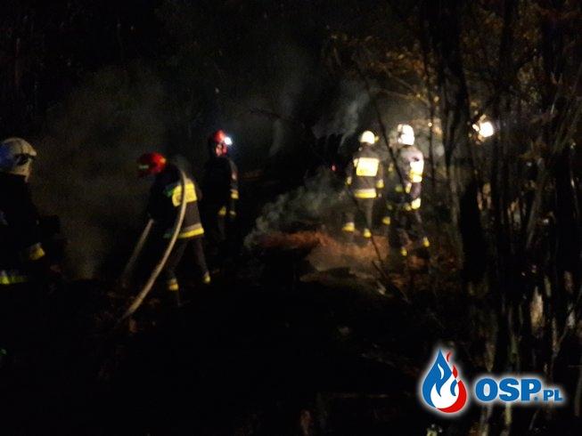 Pożar pustostanu w Siedliskach OSP Ochotnicza Straż Pożarna