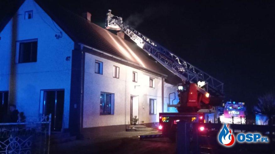 07/2021 Pożar sadzy w kominie w budynku jednorodzinnym w Czeskiej Wsi OSP Ochotnicza Straż Pożarna
