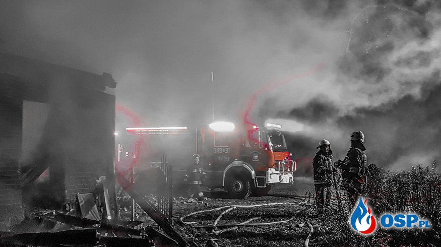 12-11-2018 (wtorek) Pożar poddasza domu wielorodzinnegoPodgóry OSP Ochotnicza Straż Pożarna