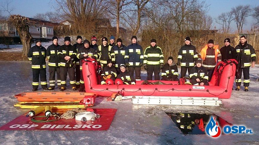 Ćwiczenia w ratownictwie lodowym 2017 OSP Ochotnicza Straż Pożarna