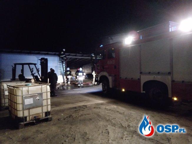 Pożar zakładu w m. Koza Wielka OSP Ochotnicza Straż Pożarna