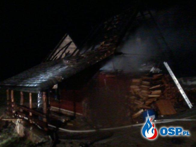 Pożar sauny w Zaboryszkach OSP Ochotnicza Straż Pożarna