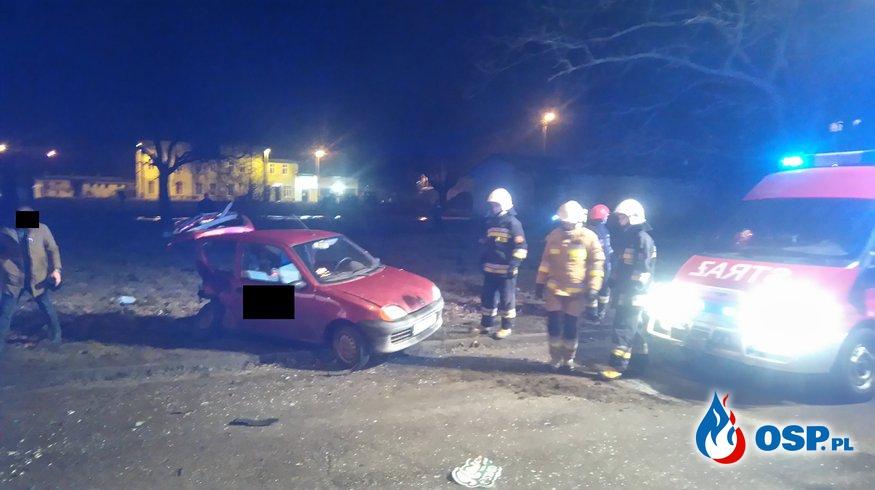Wypadek Samochodowy ul. Kilińskiego w Trzebiatowie OSP Ochotnicza Straż Pożarna