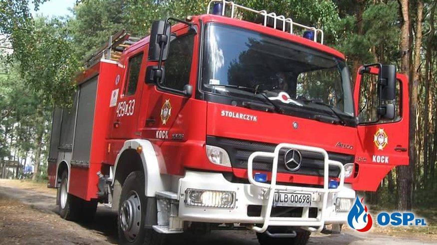 Nocny pożar łąk OSP Ochotnicza Straż Pożarna