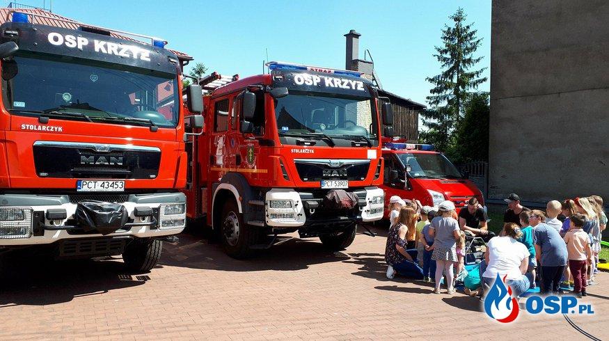 Przedszkolaki odwiedziły nas w remizie OSP Ochotnicza Straż Pożarna