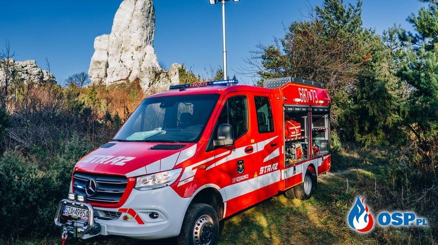 Przywitanie fabrycznie nowego samochodu ratowniczo-gaśniczego marki MERCEDES SPRINTER 519  4X4 OSP Ochotnicza Straż Pożarna